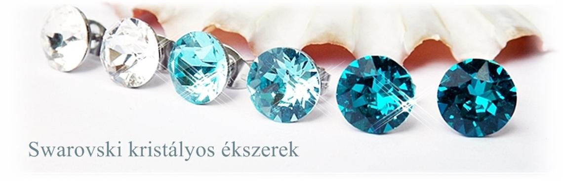 Swarovski kristályok felhasználásával készített kézműves ékszerek